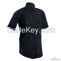 Classic Jet Black Security Shirts And Uniform