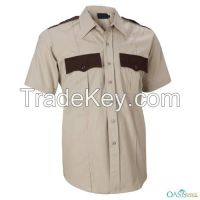Creme-Brown Women Security Guard Shirts