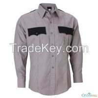 Full Sleeve Grey-Black Security Shirt, Uniform