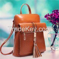 Fashion Vintage Tassels Backpack Portable Female Shoulder Bag