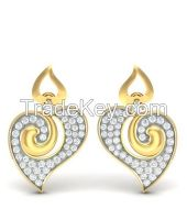 Get the Twin Heart Diamond Earrings Online