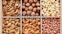 Almond, Cashew Nuts ,Hazelnuts, Macadamia Nuts, Peanuts, Pistachio Nuts, Walnuts ,Sunflower Kernels