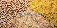 Rapeseed Meal,	Indian yellow corn,Soya Bean Meal