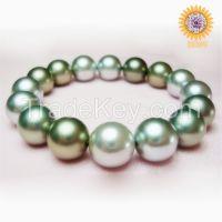 wholesale cheap multi-color south sea shell pearl bracelet