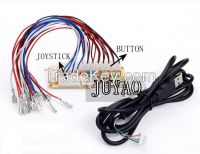 PC joystick PCB, USB joystick PCB with wires, USB controls to Jamma arcade games