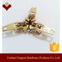 Custom logo fancy brass zipper pullers for clothing