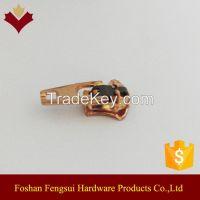 Copper plating wholesale zipper slider for jeans