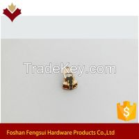 4 Spring Lock(YG) Copper Jacket Zipper Slider