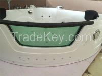 Chinese mainland Acrylic corner jet whirlpool massage bathtub