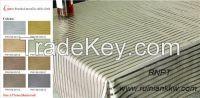 Brushed metallic table cloth