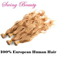 Super Quality Europe Remy Human Hair Weaving Extension Natural Wavy