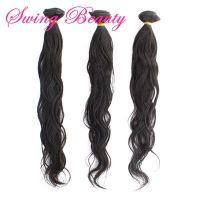 Top Grade Virgin Malaysian Human Hair Extension Natural Wavy Natural Color