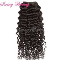 100% Virgin Unprocessed Indian Natural Human Hair Weft Jerry Curly Hair