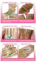 PU Skin Tape on Natural Human Hair Extension Strong Adhesive Tape