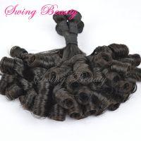 100% Virgin Remy Human Hair Weaving Bundle Extensions Curly Hairs