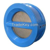 Double door Iron wafer check valve, double plate wafer check valve