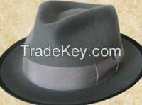 men's fashion 100% wool plain felt hat