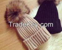 color hat with khaki 19cm raccoon fur pon pons/Wholesale And Retail