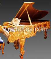 NEW!! Most Luxury Furniture Golden Grand Piano, Chinese Dragon Golden Grand Piano