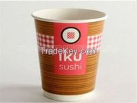Distinctive printed paper cups double wall wholesale coffee cup coffee shop party supply one-off cup cups