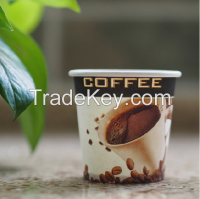 hot selling single wall disposable paper cups for hot drink dark blue high quality, custom logo design