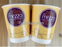 Food grade disposable double wall paper cup sample high quality shop party tableware supplies