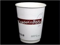 Food grade disposable coffee cup with lid 100% eco-friendly coffee shop tableware custom