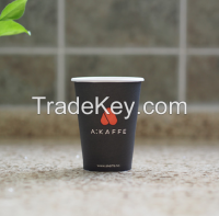 7.5oz, custom printed paper coffee cup, single wall disposable paper cup, customized