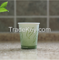 hot selling single wall disposable paper cups for hot drink dark blue high quality,custom logo design
