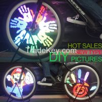 128 LED DIY picture bicycle wheel led bike light