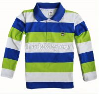Color Combination polo shirt children in china