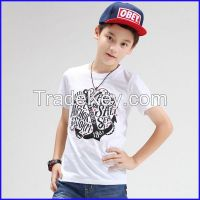 2016 Children Kid boys Wholesale clothing Custom short Sleeve Round Neck kidsT shirt