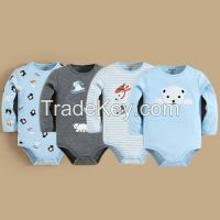 NEW Embroidery Baby Clothes 100%Cottom Baby Romper Set Baby Bodysuit