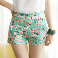 fashion floral shorts women shorts