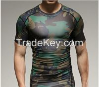 Outdoors Hunting tight T-shirt Men Breathable Tactical Combat Military Hot Dry Sport army t shirt