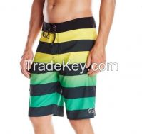 2016 Latest Design Stripes Gradient Sublimation Print Men's Beach Shorts Board Shorts