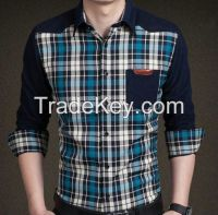 autumn new shirt plaid shirt cotton shirt man shirt men's clothing
