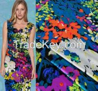 2016 New Pattern woven print 100% viscose rayon fabric for women dresses