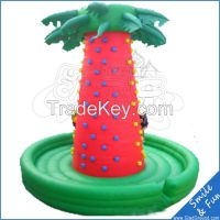 Inflatable rock climbing mountain with PVC material for outdoor games