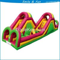 Hot selling inflatable obstacle course with PVC tarpaulin mertarial for sale