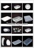 Plastic thermoforming machine for food containers/fruit trays/food containers/disposable boxes/box making machinery