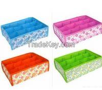 Hot Sale Folding 12 Grid Storage Box For Bra, Underwear