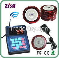 ZISA wireless waiter guest paging system , restaurant queueing coaster pager