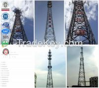 Steel telecommunication antenna gsm cdma lattice tower