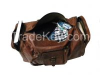 """24""""promotion light weight rolling duffel trolley travel bag fashion sn goat leather"""