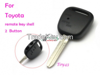 Remote key shell side 2 buttons TOY43 for Toyota