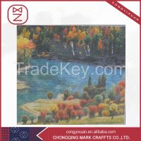 Integrated Chinese and Western Pure Silk Embroidery Modern Art Minds Crafts Painting