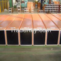 high quality coating Rectangular square round copper mould tube suppliers