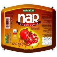 Natural Pomegranate Sour Sauce, 325 gr Elegant Glass Bottle