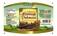Carob Harnup Syrup Pekmez 645 gr Glass Jar Carob Concentrate for Blood Deficiency Natural Food Beverage.